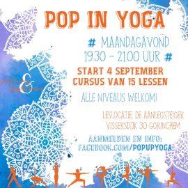 "Start ""Pop In Yoga"" op maandag 4 september"